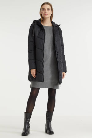 gewatteerde jas BYBOMINA zwart