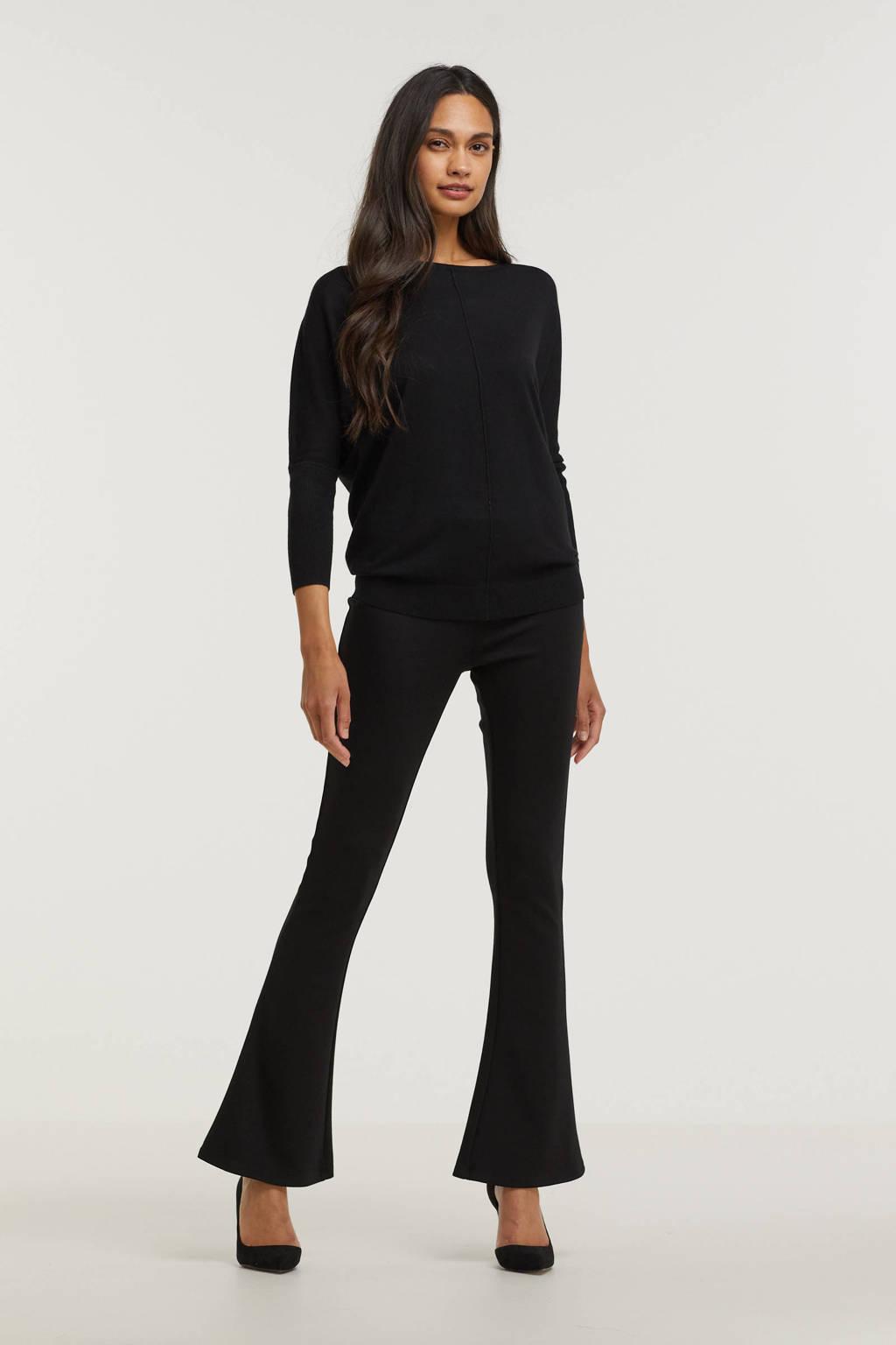 B.Young fijngebreide trui BYPIMBA zwart, Zwart