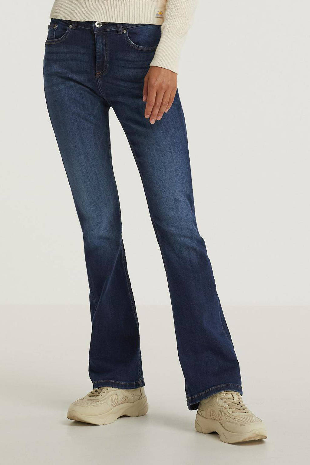 B.Young flared jeans BYLOLA donkerblauw, Donkerblauw