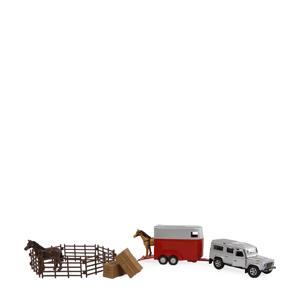 Landrover met paardentrailer en accessoires