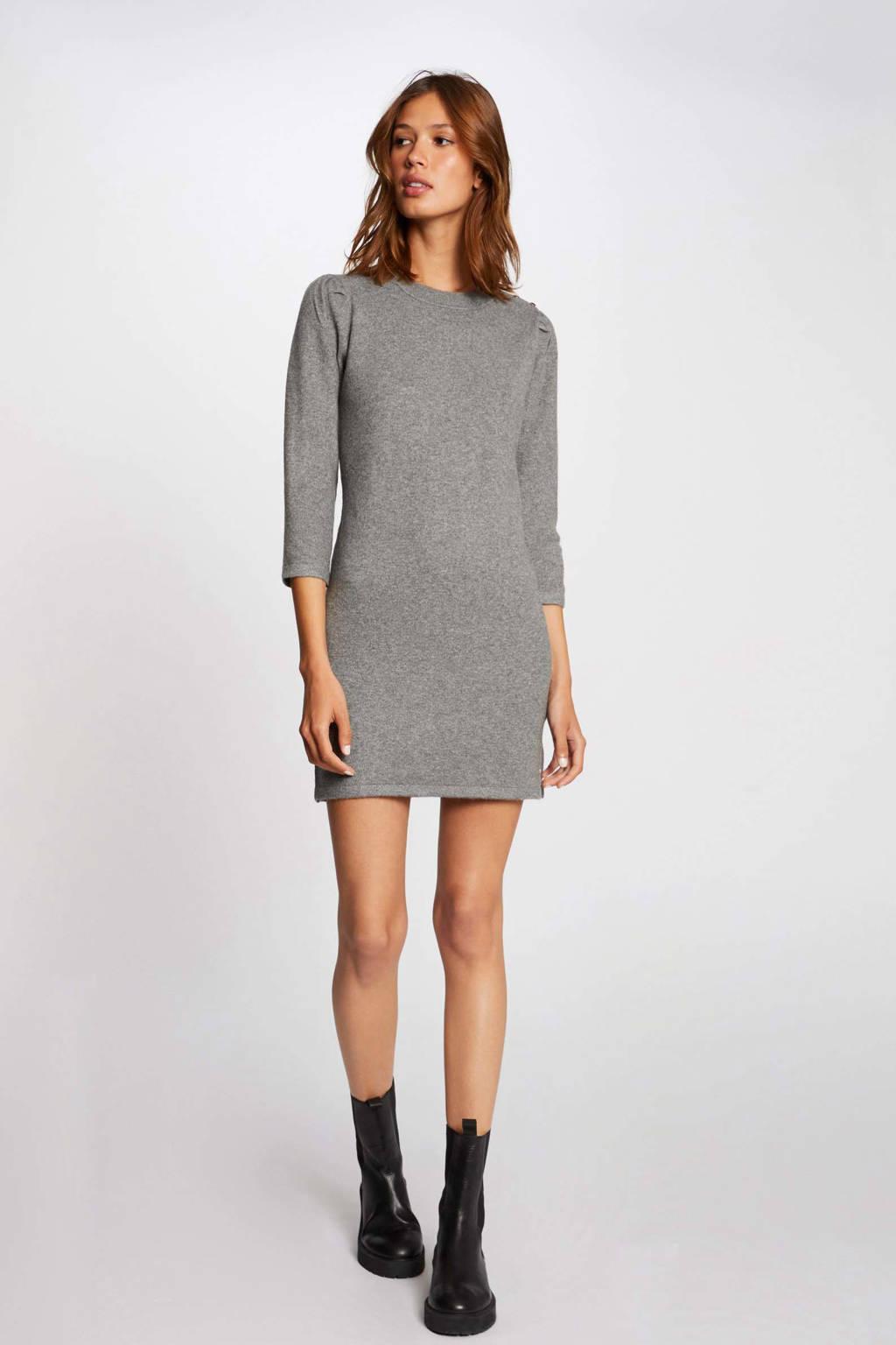 Morgan fijngebreide jurk grijs, Grijs