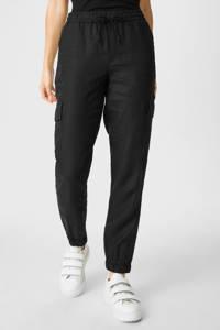 C&A tapered fit broek zwart, Zwart