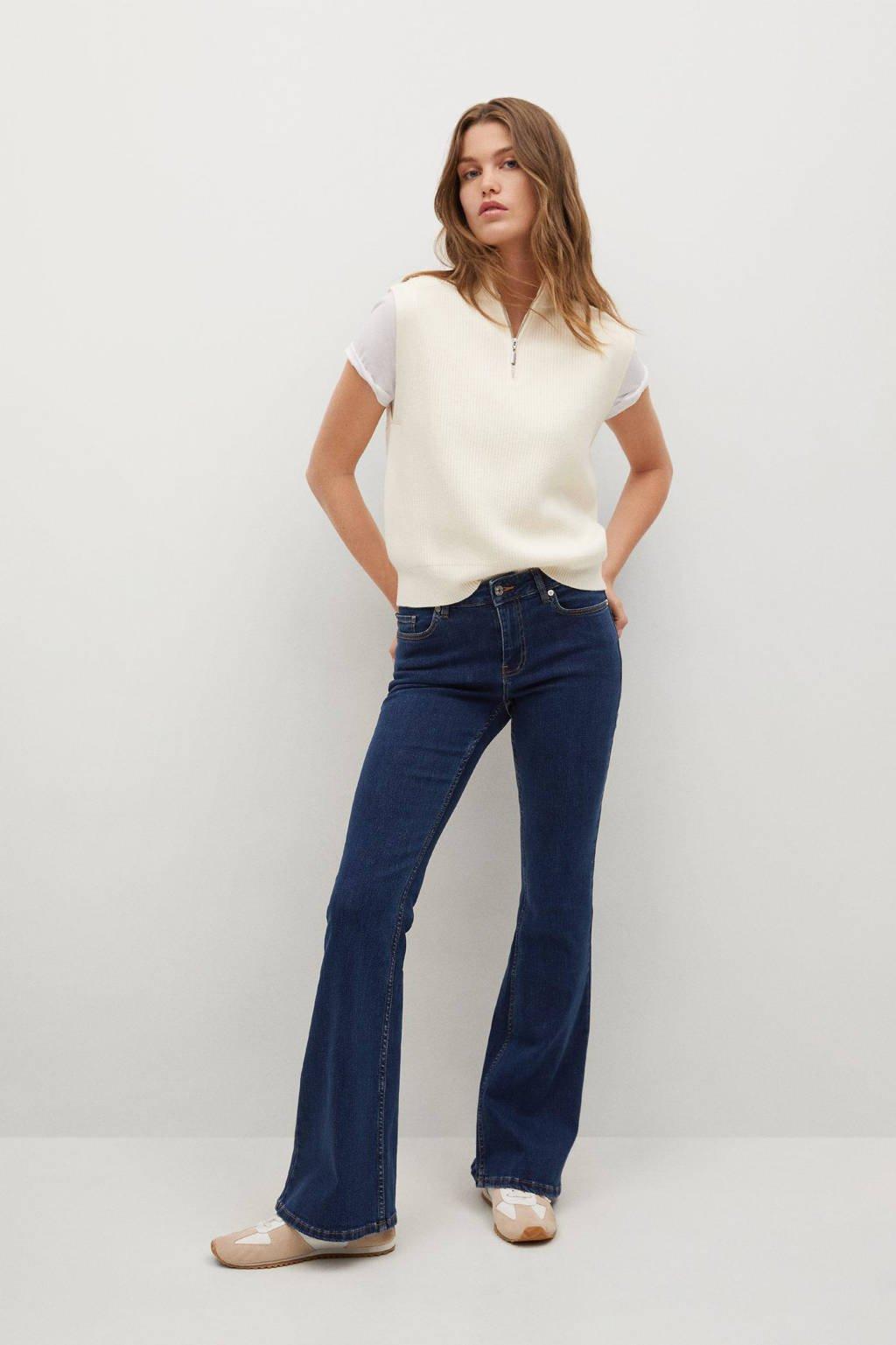 Mango flared jeans changeant blauw
