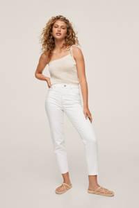 Mango high waist mom jeans wit, Wit