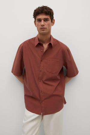 regular fit overhemd middenoranje
