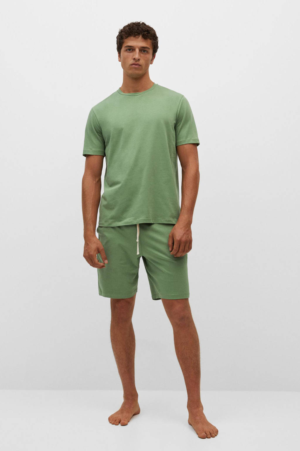 Mango Man shortama groen, Groen
