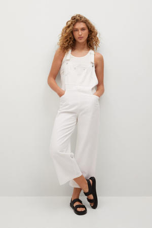 cropped straight fit tuinbroek wit