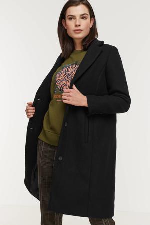 coat Asta 2 met wol zwart