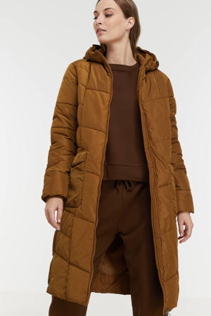 gewatteerde jas Nina lichtbruin