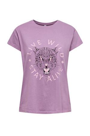 T-shirt JDYSTAY met printopdruk paars