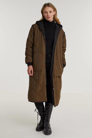 reversible gewatteerde jas Lulu donkergroen/zwart