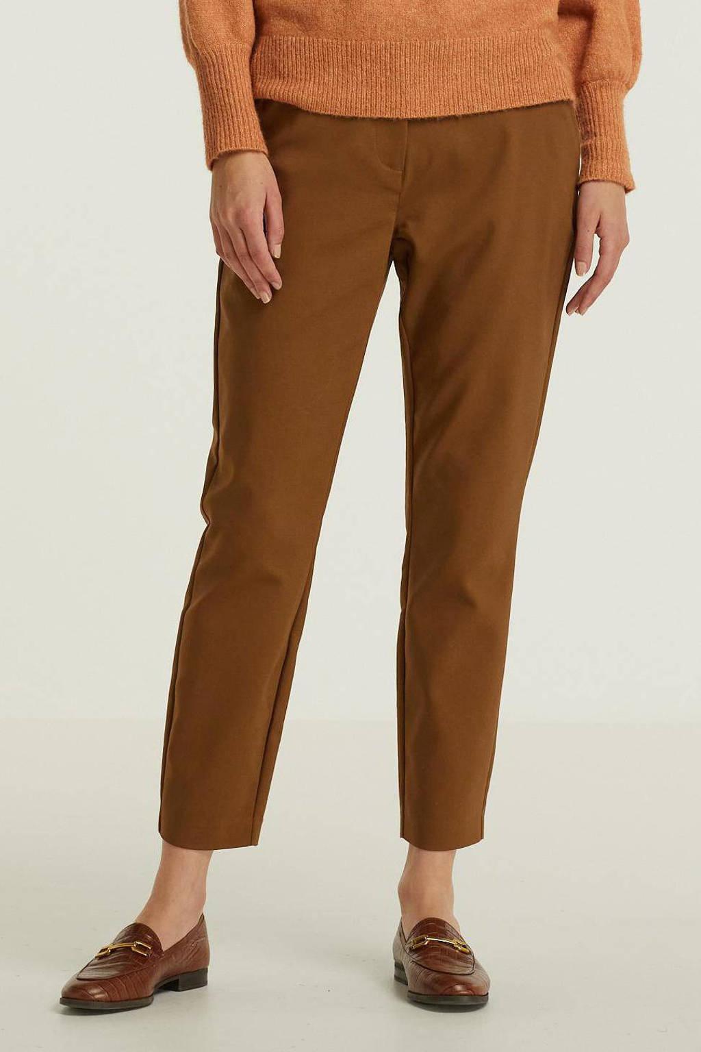 Peppercorn slim fit pantalon Janika bruin, Bruin
