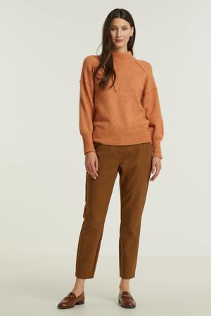 slim fit pantalon Janika bruin