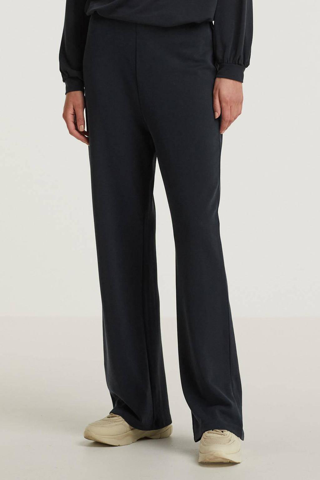 Peppercorn wide leg palazzo broek Lana zwart, Zwart