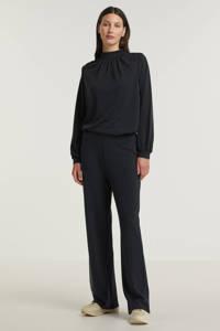 Peppercorn top Lana met open detail zwart, Zwart