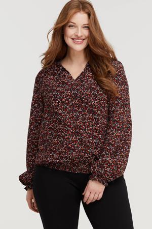 gebloemde blouse multi