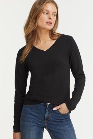 longsleeve t-shirt V-hals