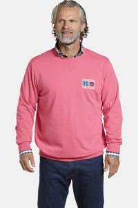 Jan Vanderstorm sweater DEGENAR Plus Size met printopdruk roze, Roze