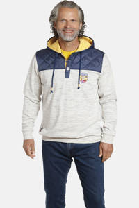 Jan Vanderstorm gemêleerde sweater WOLDEMAR Plus Size lichtgrijs/blauw, Lichtgrijs/blauw