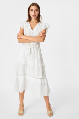 jurk met ruches wit