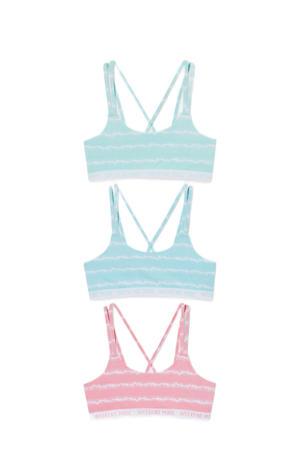bh-top - set van 3 roze/blauw/groen