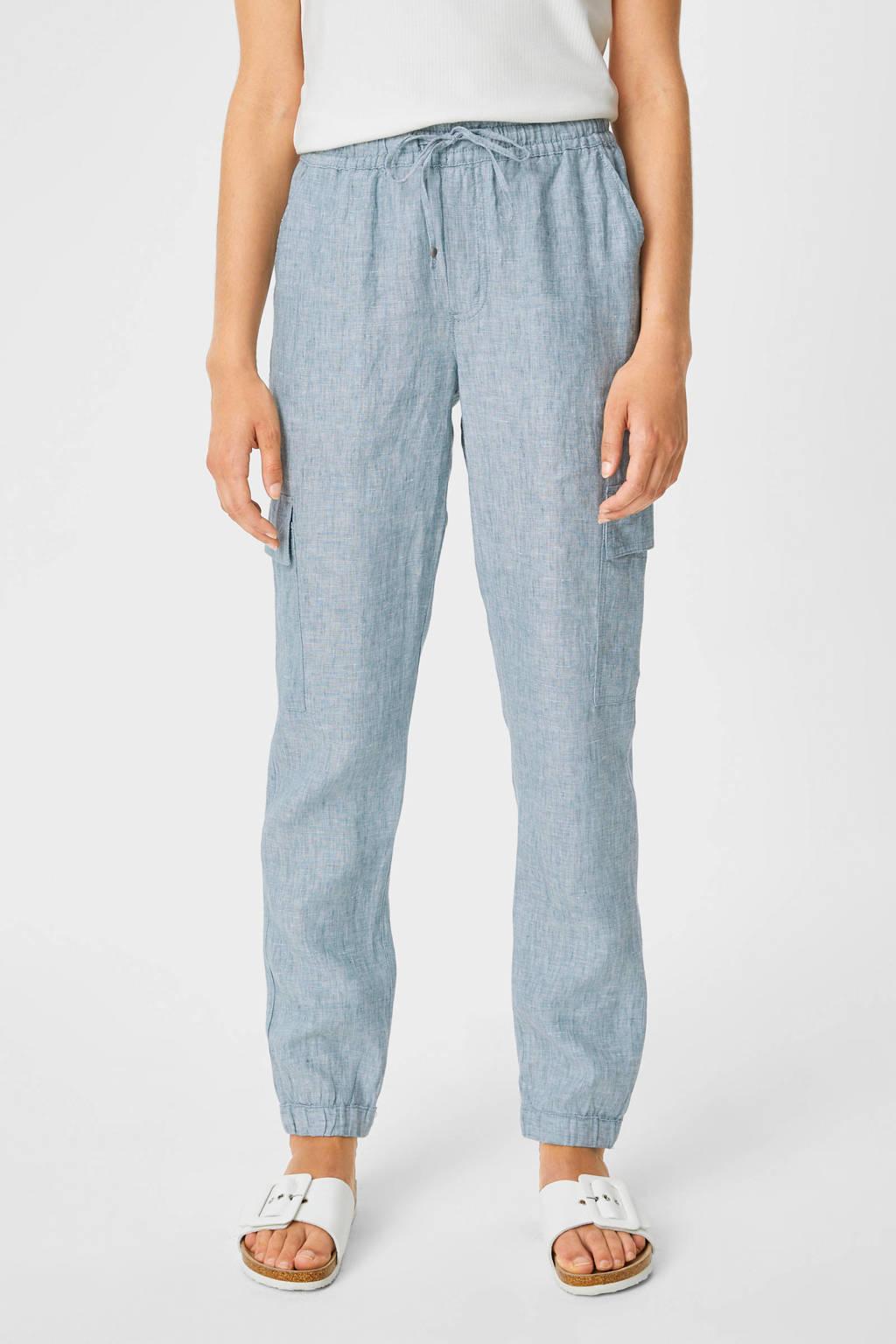 C&A tapered fit broek lichtblauw, Lichtblauw