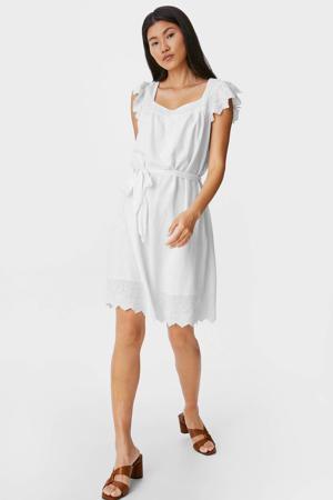 A-lijn jurk met ruches wit