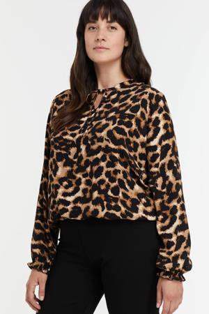 blouse met dierenprint multi