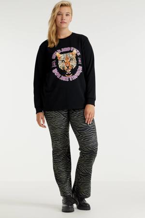 sweater CARHEARTBEAT met printopdruk zwart/