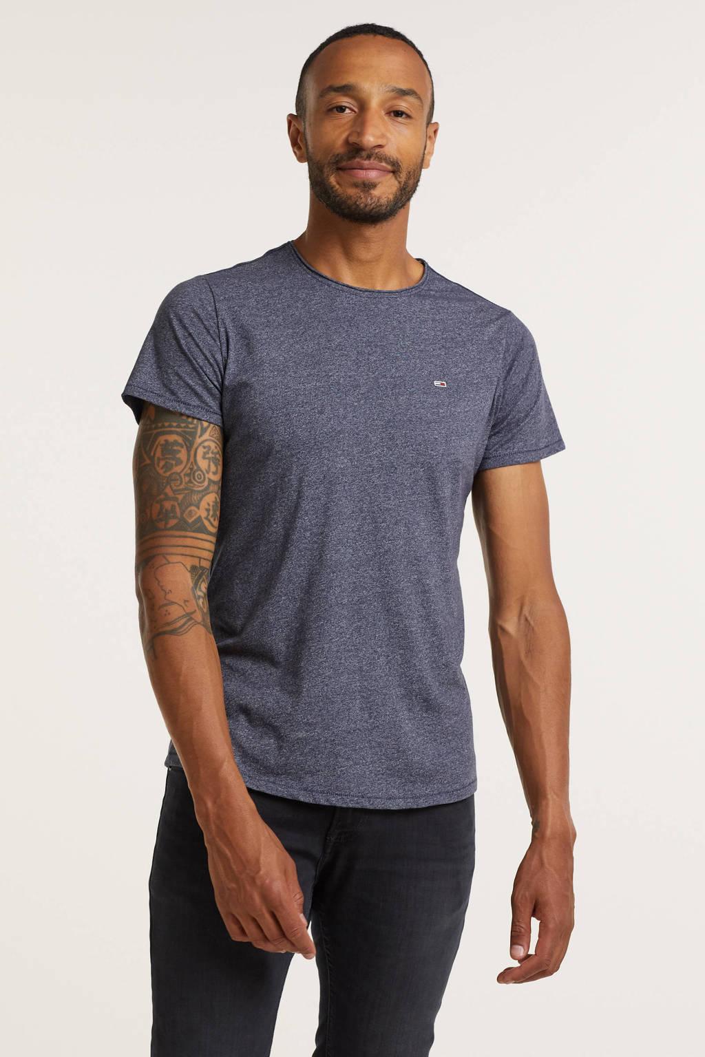 Tommy Jeans T-shirt Jaspe met biologisch katoen Twilight Navy