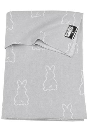 X Mrs. Keizer baby ledikantdeken Rabbit 100x150 cm silver