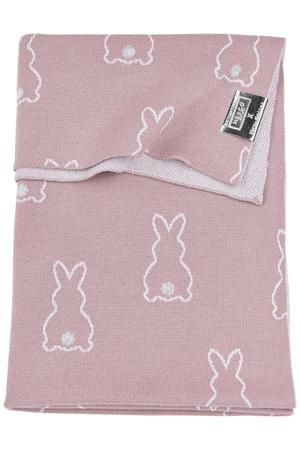X Mrs. Keizer baby ledikantdeken Rabbit 100x150 cm lilac