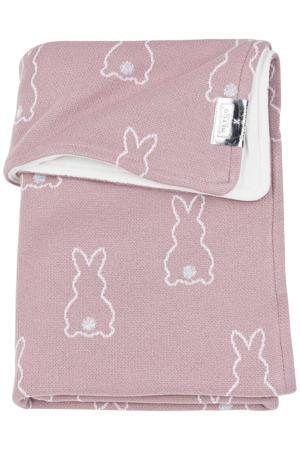 X Mrs. Keizer baby wiegdeken velvet Rabbit 75x100 lilac