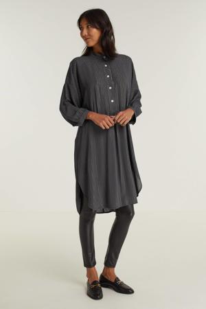 lange blouse met lurex grijs