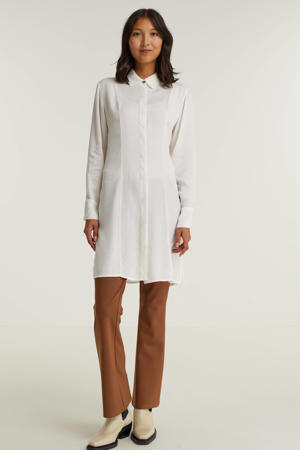 semi-transparante blouse ecru