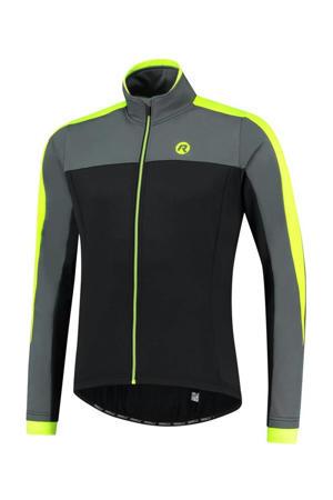fietsjack Freeze zwart/grijs/neon geel