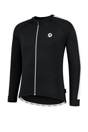 fietsshirt Explore zwart/wit