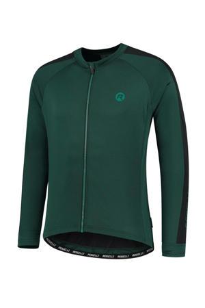 fietsshirt Explore groen/zwart