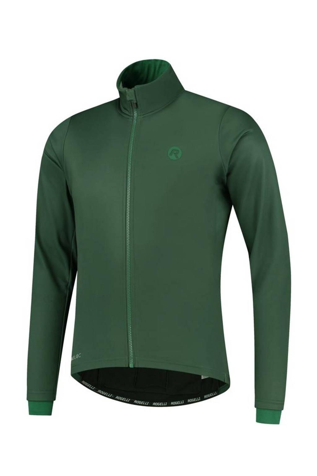 Rogelli   fietsjack Essential groen, Groen