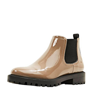 lak chelsea boots taupe