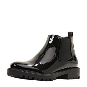 lak chelsea boots zwart