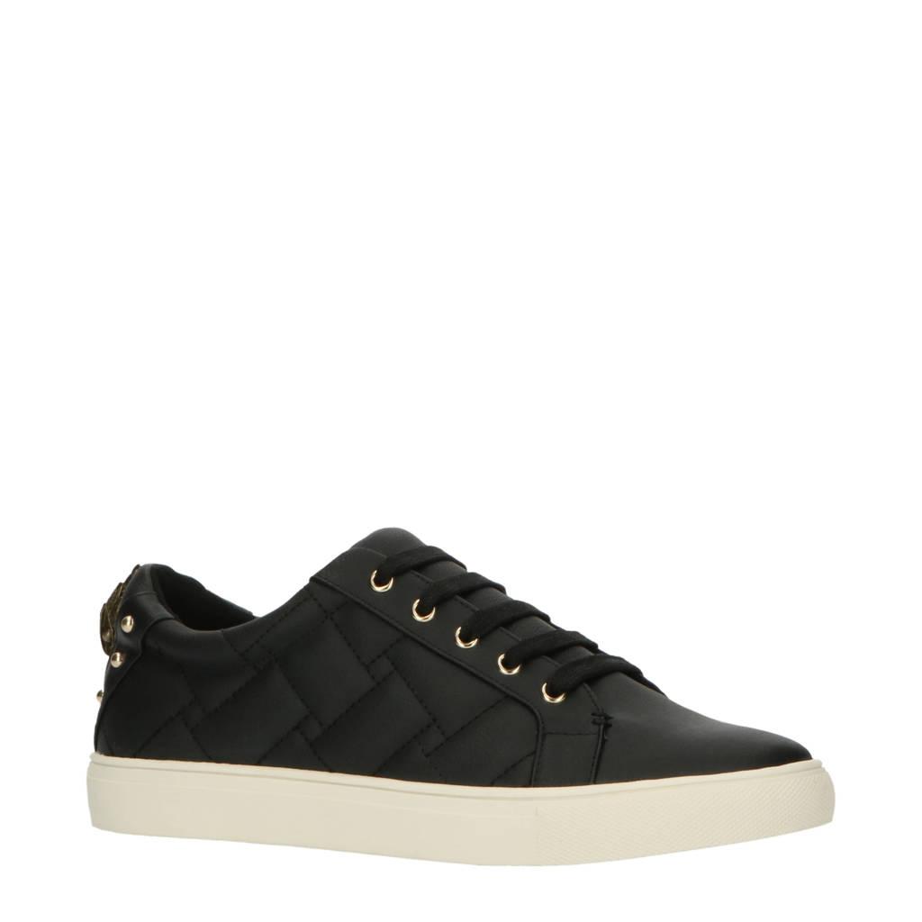 Kurt Geiger Ludo  leren sneakers zwart, Zwart