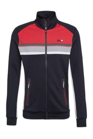 sportvest Gallagher donkerblauw/rood/wit