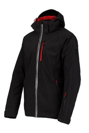 softshell ski-jack Spectrum zwart/rood