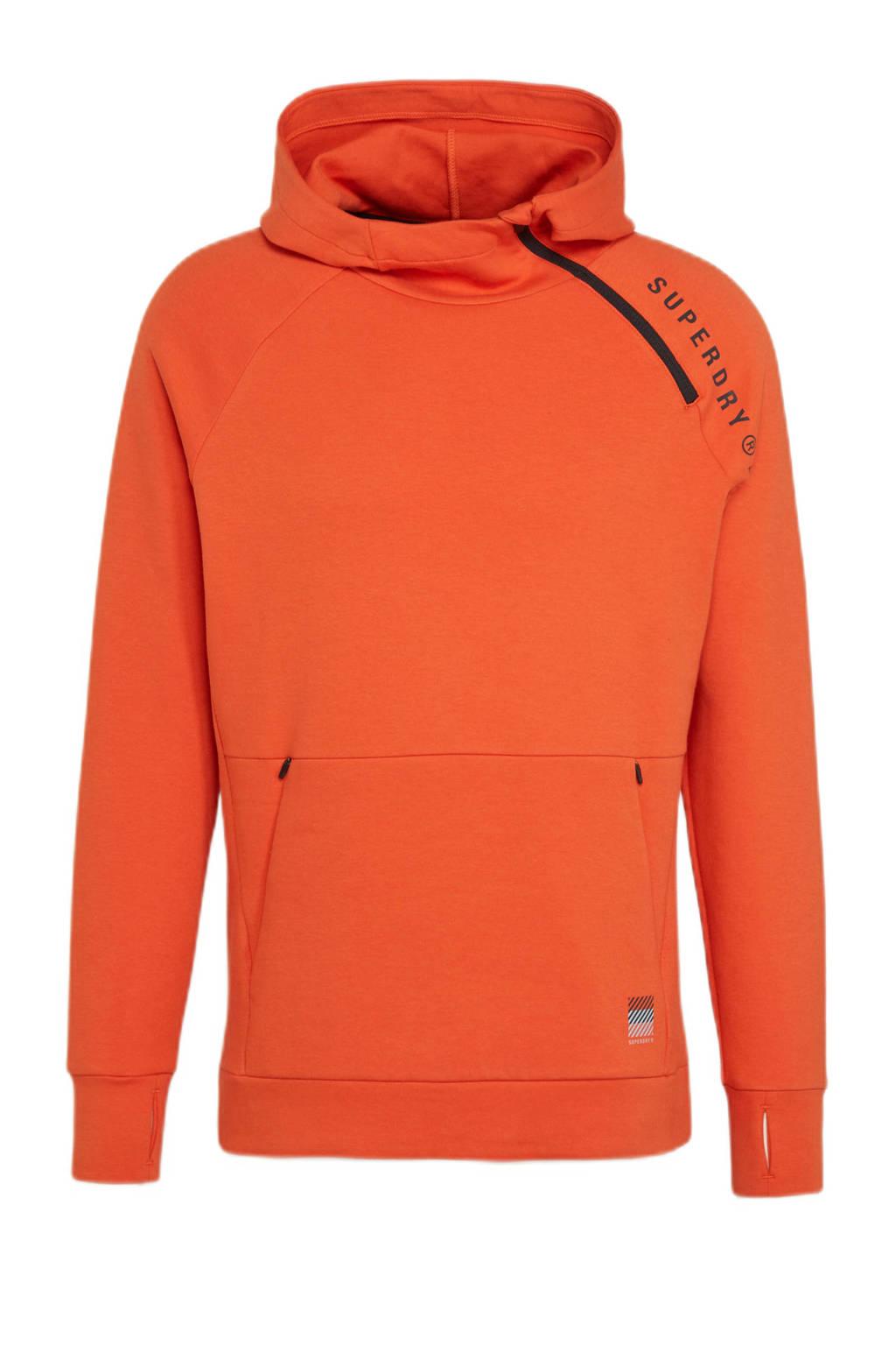 Superdry Sport   sporthoodie oranje, Oranje