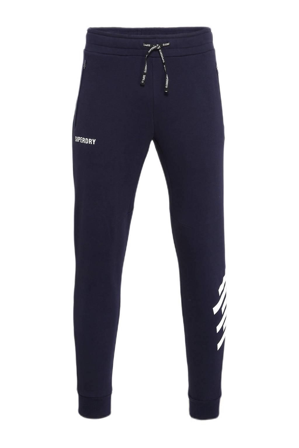 Superdry Sport   joggingbroek donkerblauw, Blauw