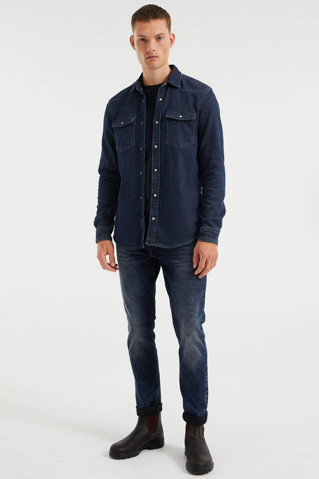 WE Fashion Blue Ridge slim fit jeans blue black denim