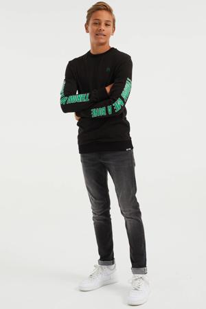 longsleeve zwart/groen