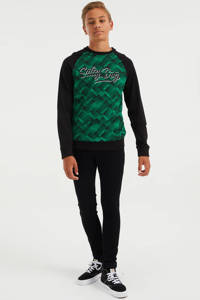 WE Fashion Salty Dog longsleeve met all over print groen, Groen