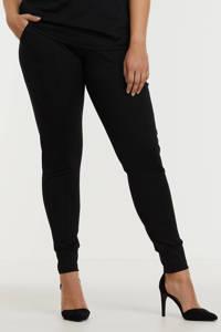Exxcellent skinny broek Laila van travelstof zwart, Zwart